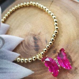 Beautiful butterfly Bracelet 18K Gold Layered